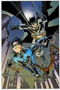 Batman i Nightwing autorstwa Scota McDaniela. © DC Comics