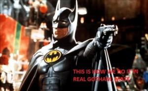 """Scena z filmu """"Batman""""."""